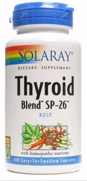 Thyroid Blend SP-26 Kelp 100 cápsulas de Solaray