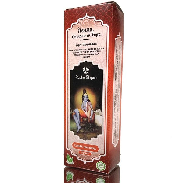 Henna en pasta color cobre natural 200 ml de Radhe Shyam