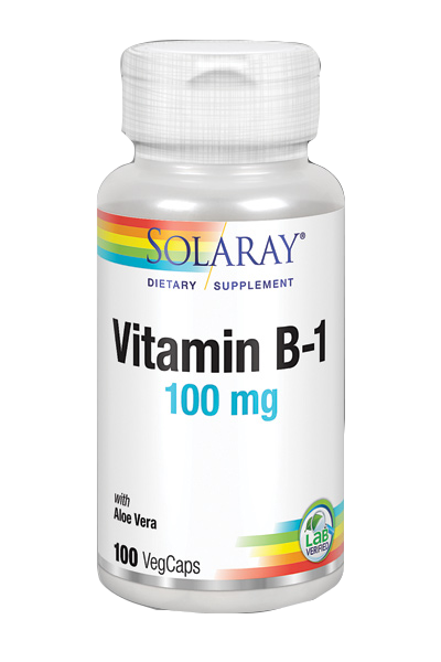 Vitamin B1 100 mg de Solaray 100 cápsulas