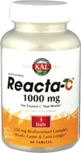 Reacta-C Vitamin C 1000 mg - 60 capsules of KAL