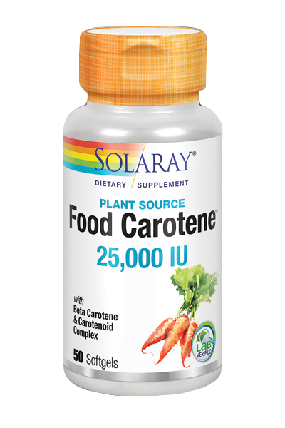 Food carotene 50 perlas de Solaray
