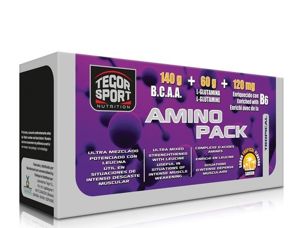 Amino pack 220 gr 40 units of Tegor
