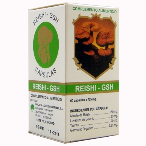 Reishi GSH 60 cápsulas de Golden & Green