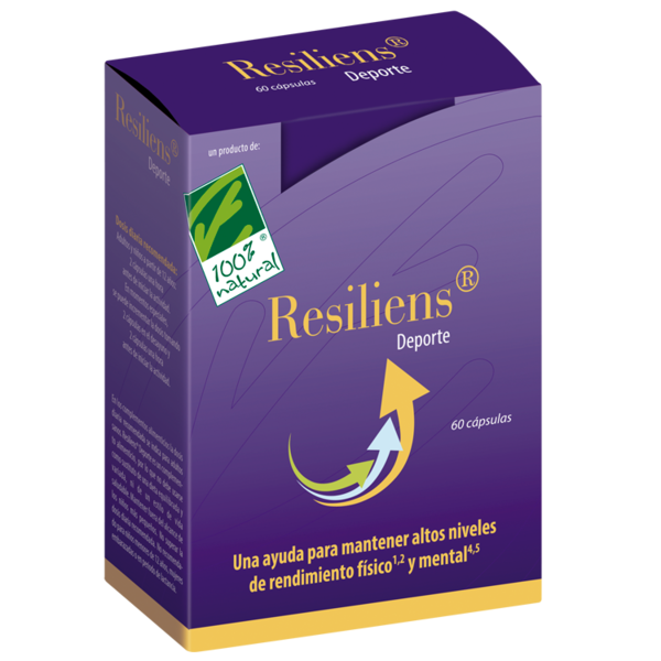 Resiliens Sport of 60 capsules of Cien pro Cien Natural